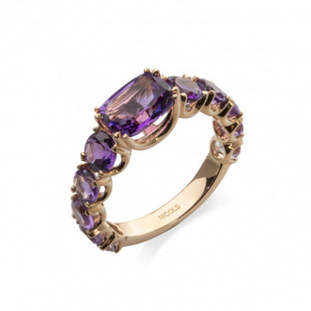 CANDY STONES Amethyst Gold Ring