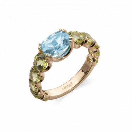 CANDY STONES Topaz and Peridot Gold Ring