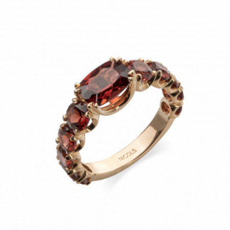 Gold and Garnet Ring CANDY STONES