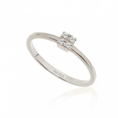 Ring Gold Diamonds Rosette DETAIL 29210232011