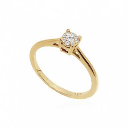 Anillo Oro Diamantes Rosetón DETAIL