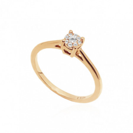 Rosette Gold Diamond Ring DETAIL 29210235211