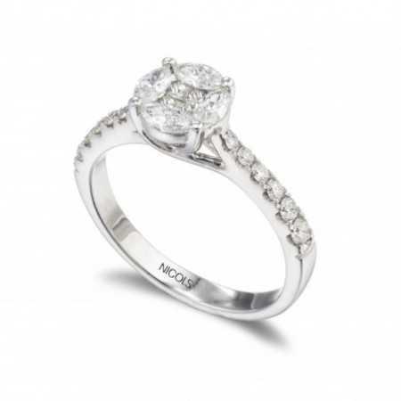 Anillo Diamantes Rosetón DIAMOND CLASSIC