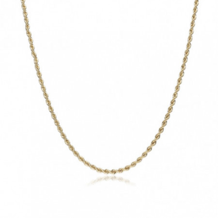 18kt Gold Chain SOLID CORD 2.5mm 40cm