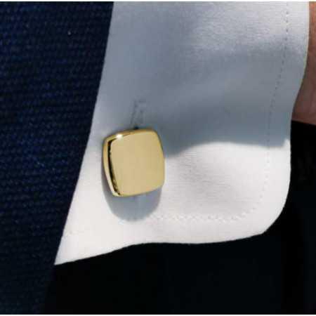 ENGRAVABLE Square Gold Cufflinks
