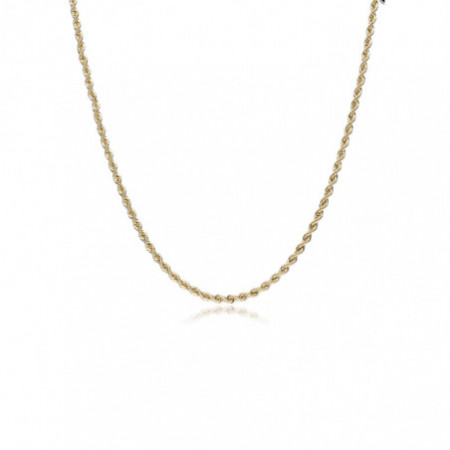 18kt Gold Chain SOLID CORD 2.0mm 60cm
