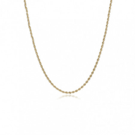 18kt Gold Chain SOLID CORD 1.5mm 50cm