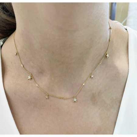 Collar Oro Estrellas CELEBRITY 108