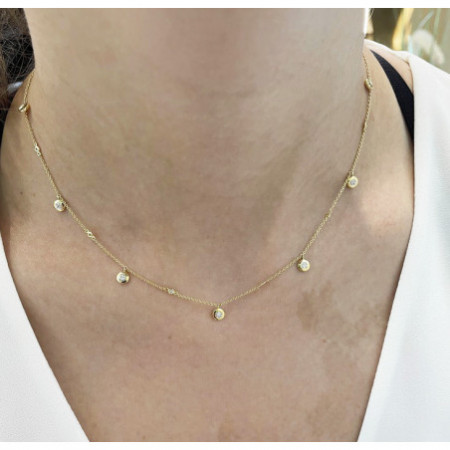 Collar Oro Chatones CELEBRITY 108
