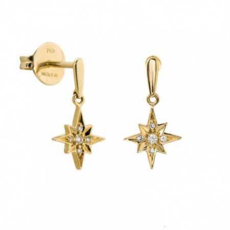 Pendientes Oro Estrella Fugaz LITTLE DETAILS