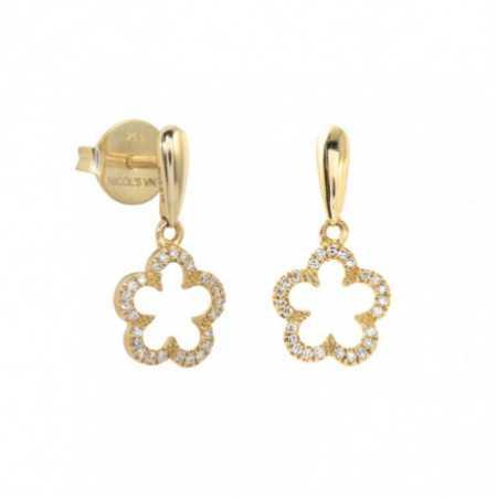 Pendientes Oro y Diamantes Flor LITTLE DETAILS