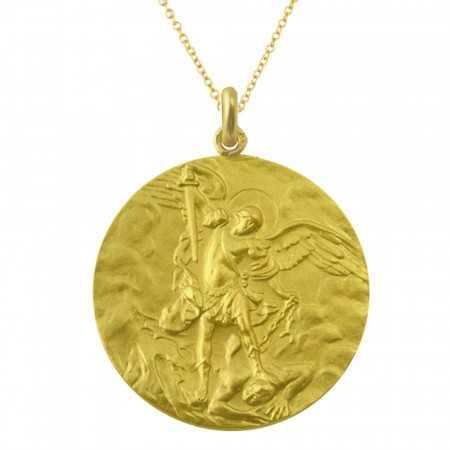 Medalla San Miguel Oro 18kt