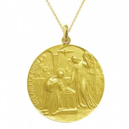 Medalla San Gabriel Oro 18kt