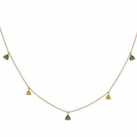 Collar Colgantes Piedras Cuarzo Verde y Cuarzo Limón TRILLON