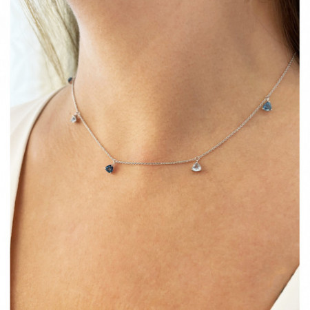 Collar Colgantes Topacio Azul TRILLON