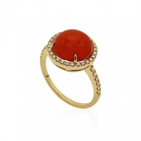 Anillo Coral Diamantes RED VELVET NICOLS 12MM