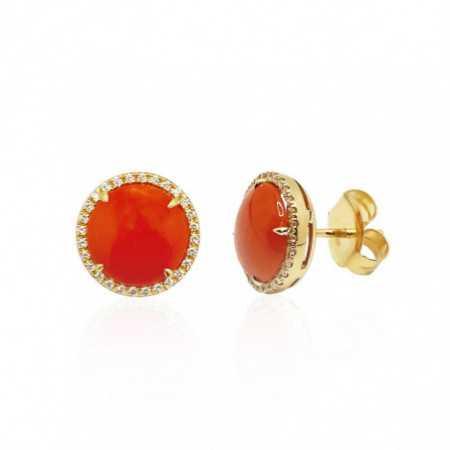 Pendientes Coral Diamantes RED VELVET 12MM