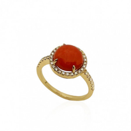 Anillo Coral Diamantes RED VELVET 11MM