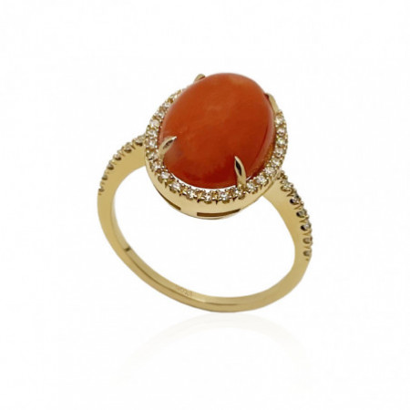 Anillo Coral Oval RED VELVET 15X112MM