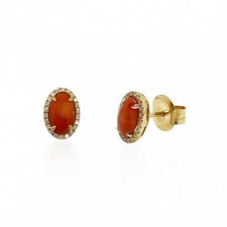 Pendientes Coral Diamantes RED VELVET 11X8MM
