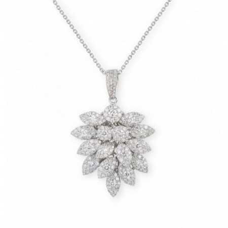 Colgante Diamantes HOJAS MÚLTIPLE
